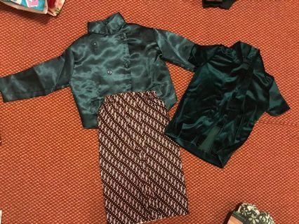 set baju beskap anak & kutubaru anak ( sekali pakai)