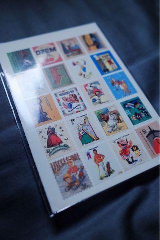 Vintage復古郵票貼紙