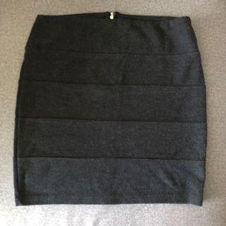 [FREE MAIL] Dark Grey Bandage Skirt  #MRTJurongEast #MRTRaffles