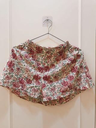 日本gu購入雪紡碎花短褲