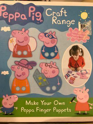 🚚 Peppa pig crafts- finger puppet diy