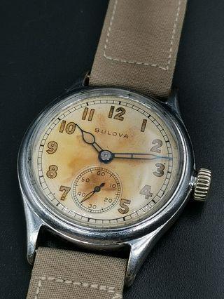 古董 Bulova WW2 10-AK Circa 1944 手上弦軍用手錶