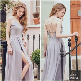 BNWT Air Space Strappy Cross back Bare back Slit Maxi Dress