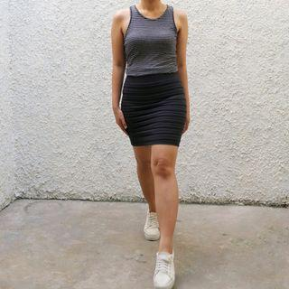 Rok Hitam Spandex / Black Mini Skirt
