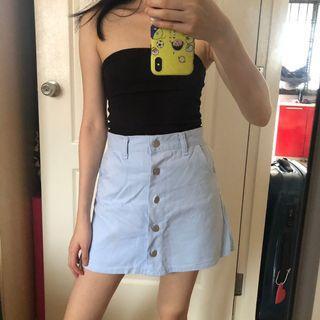 Korea button down skirt