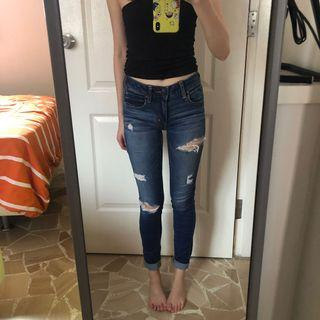 American eagle skinny ripped jeans/ jeggings