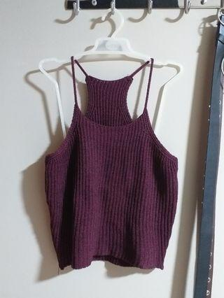 🚚 wine knitted top
