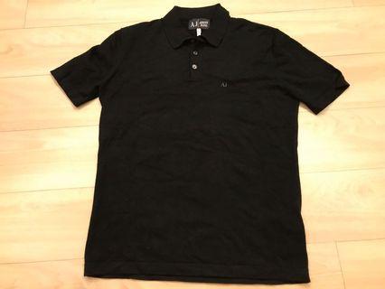 Armani Jeans black polo shirt