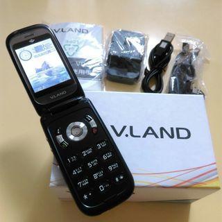 全新V.LAND VD568多用途行動電話霧面黑適合收藏或當零件機