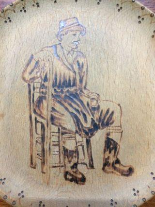 Pyrography Wood Burning Art from Cyprus