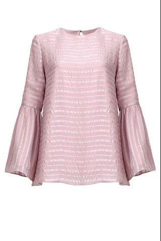 Poplook Pink Bell Sleeves + Structured Skirt