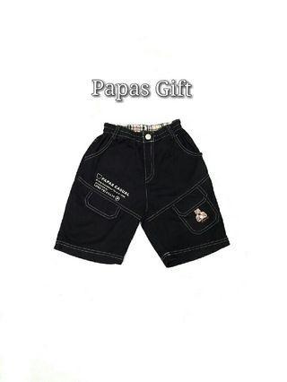 📣免運📣專櫃品牌*Papas Gift 經典小熊鬆緊腰圍休閒男童短褲/五分褲(110cm)