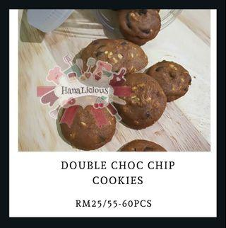Double Chocolate Chip Cookies kuih raya