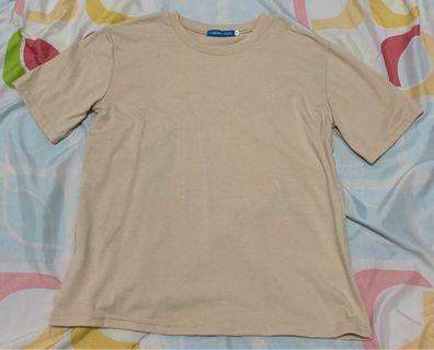 Beige and Blue T-Shirt