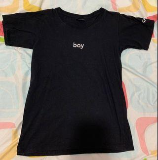 'Boy' Black T-Shirt
