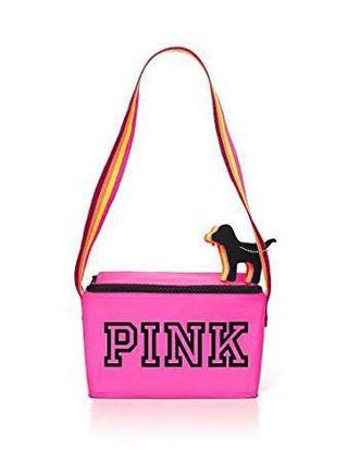Victoria Secret Pink Cooler Lunch Bag with mini Dog keychain