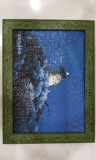 Completed Totoro Puzzle with original Totoro frame