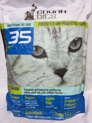 Cat Dry Food @ Chunk Bits 35 Fit (Salmon, seafood & Barley)