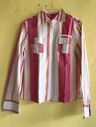 Preloved Esprit shirt down striped women - pink