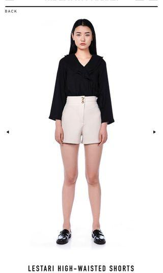 The Editor's Market Lestari High-Waisted Shorts