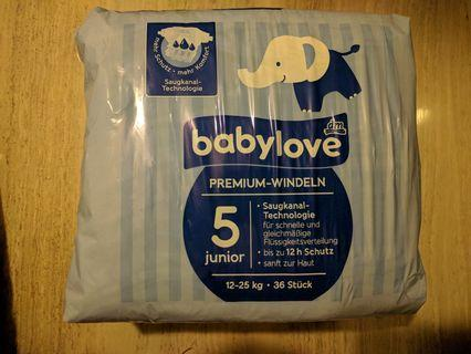 Baby love Diapers (L Size)尿片36pcs