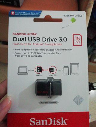 Sandisk OTG 16GB Dual Usb Drive 3.0