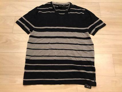 Armani Exchange black and grey shirt sleeve