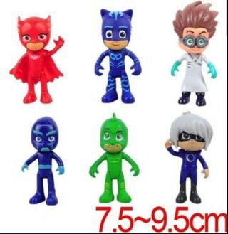BN PJ Mask 6pcs cake toppers/ Figurine/toy/Display/miniature