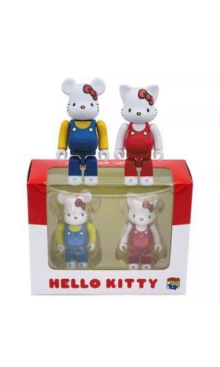 🚚 Sanrio Hello Kitty Bearbrick + Nybrick 2pcs box set