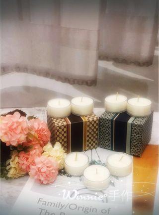 🚚 『Winnie°手作』大豆蠟手作淡香香氛蠟燭 1個15g 一組3個 小茶蠟  室內香氛 牡丹 橙花 白麝香 鳶尾花