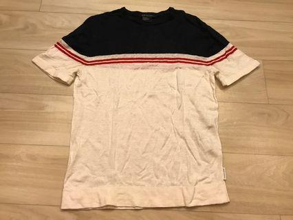 Armani Exchange black red white short sleeve
