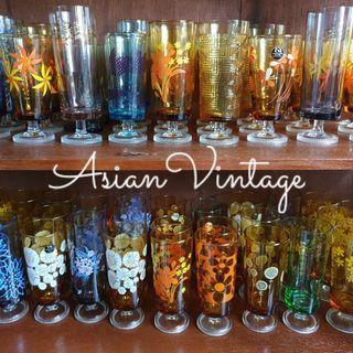 Vintage Aderia Footed Glassware