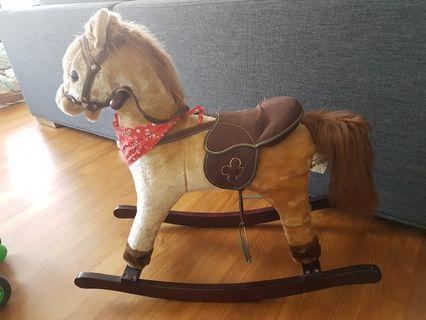 Authentic Beautiful Wooden Rocking Horse