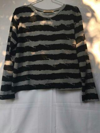 Lengan panjang stripe