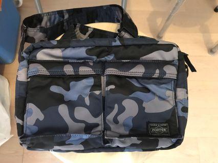 Head porter 藍色迷彩袋