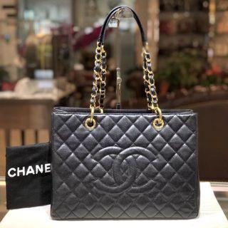 Authentic Pre-loved Chanel Caviar Leather GST GHW