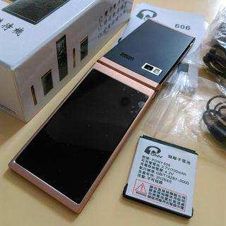 全新PONY 606多用途行動電話金色適合收藏或當零件機