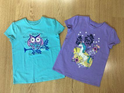 J Khaki girls t shirt 2pcs