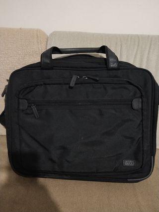 Logel briefcase cum backpack.