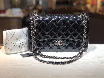 Authentic Pre-loved Chanel Patent Leather Jumbo Double Flap Bag