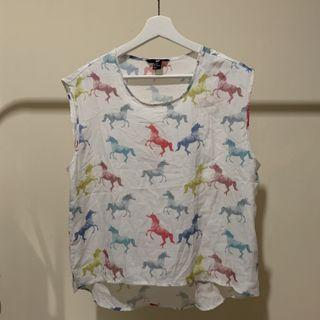 H&M Top Colorful Horse