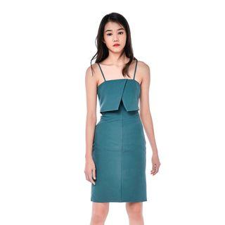 The Editors Market Linnea Layered Fitted Dress
