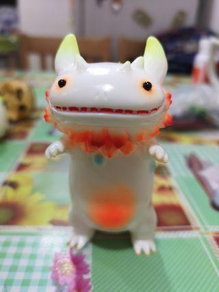 山椒魚 搪膠玩具 橙色