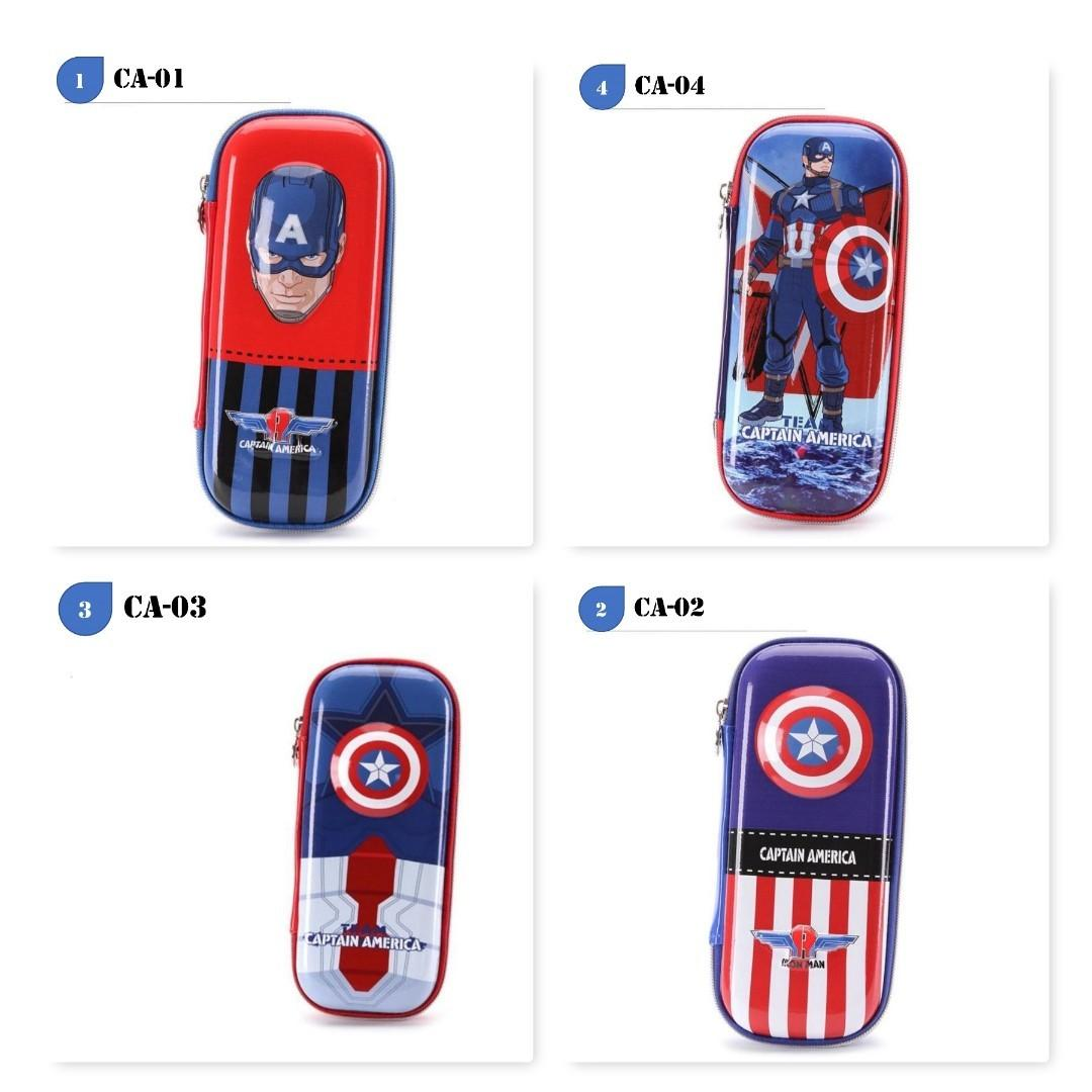 3D Super Heroes EVA Hard Case Pencil Box Captain America
