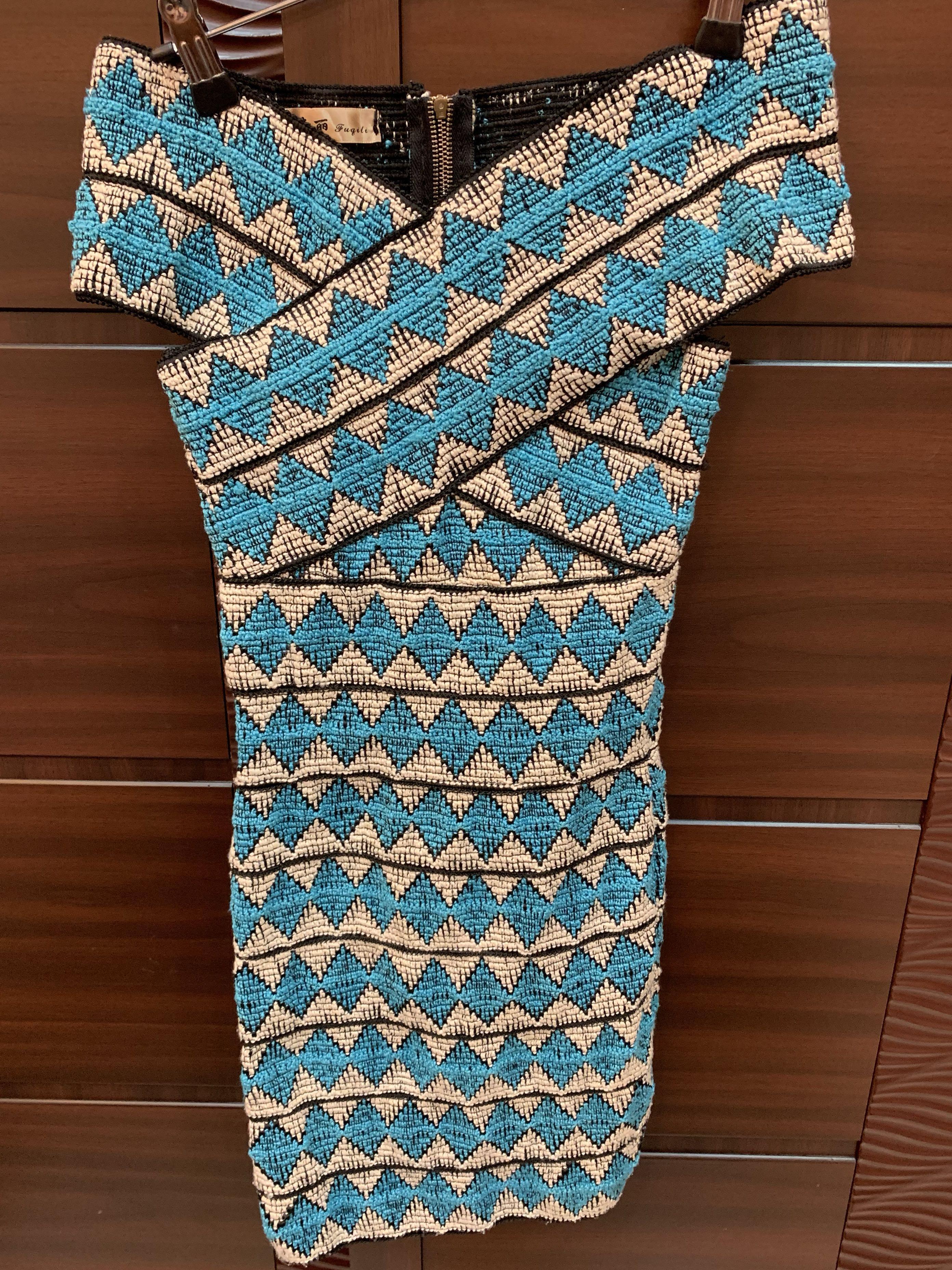 圖騰風繃帶洋裝