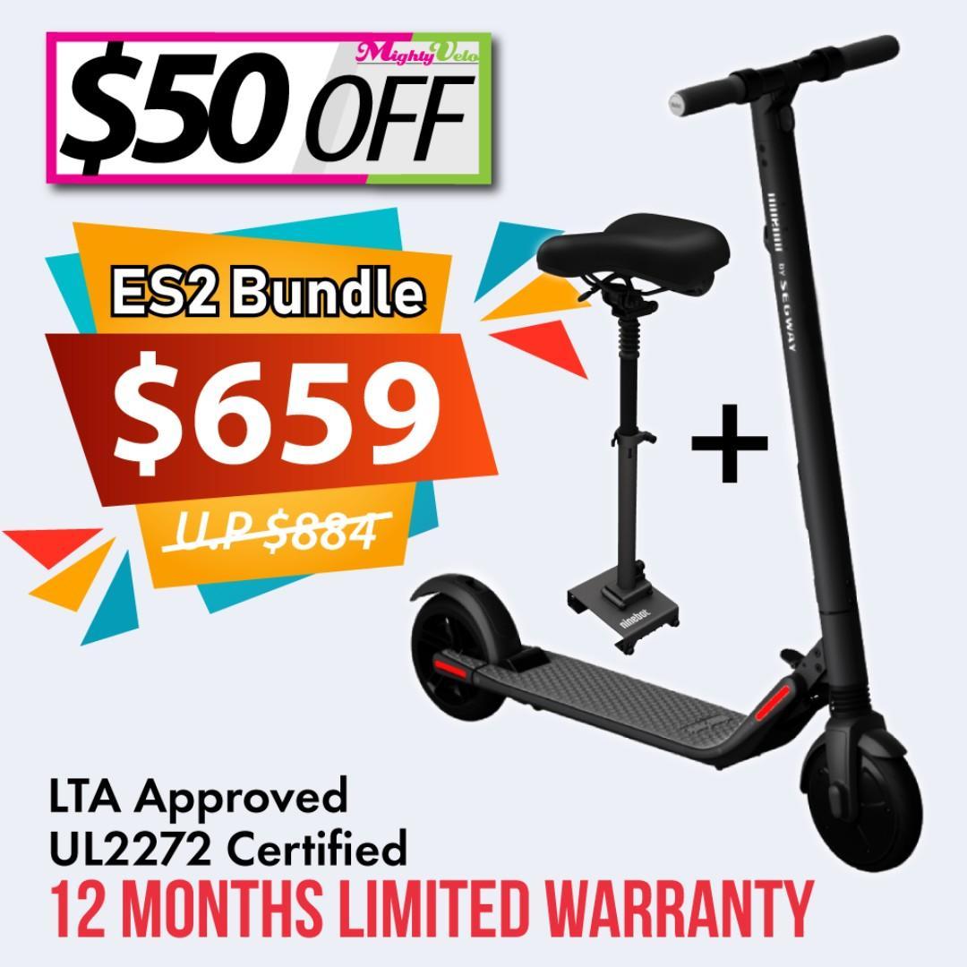 🛴 UL2272 Certified 🛴 LTA Compliant 🛴 Segway-Ninebot ES2