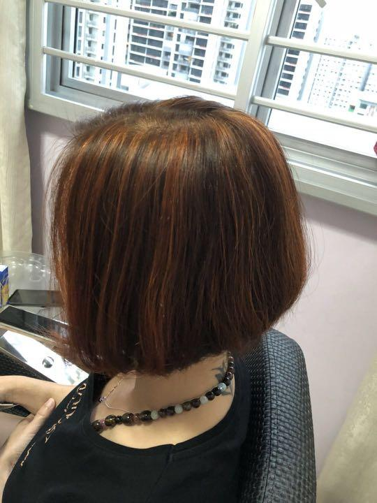 Affordable Home Based Hair Color/Highlights at Punggol