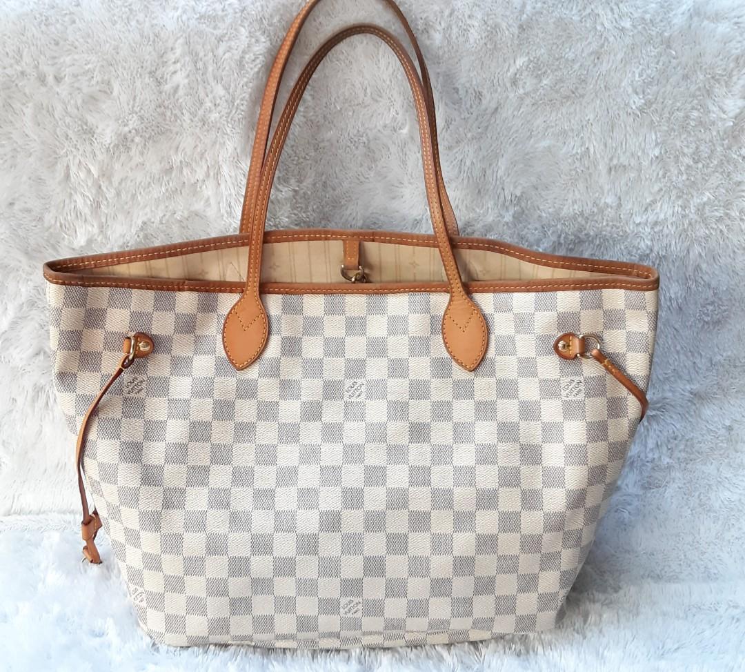 Authentic Louis Vuitton Neverfull Azure sz MM 2011🌽🍄🥝🥑🥦 I