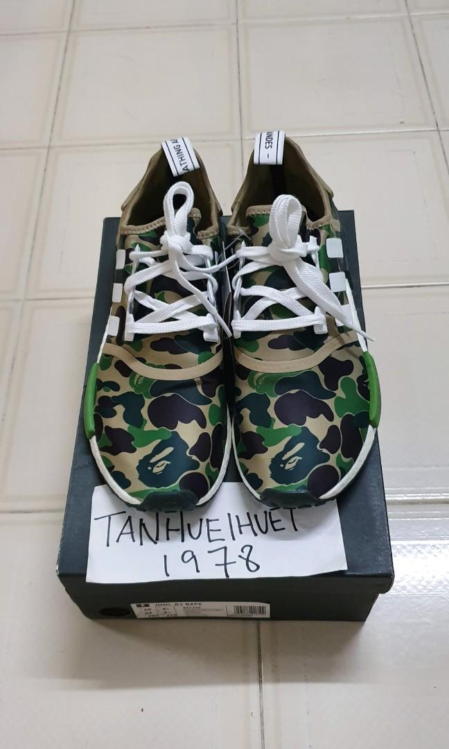 pretty nice 10aad 4c822 Bape x Adidas NMD R1 Olive camo Green, Men's Fashion ...