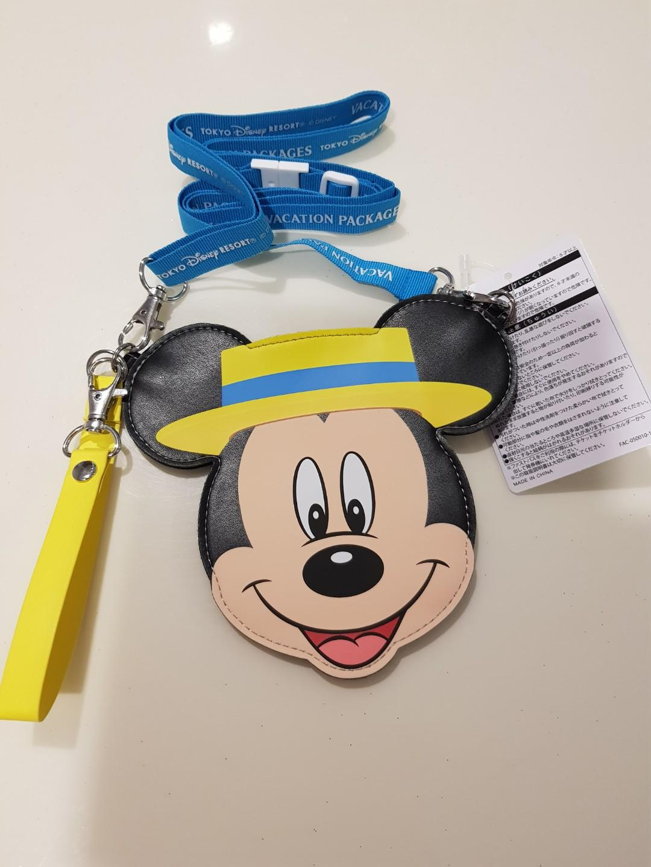 BNWT Tokyo Disney Mickey Mouse Lanyard Sling Card Holder